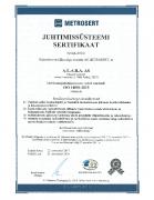 ISO 14001 sertifikaat