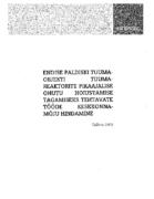 """Paldiski endise tuumaallveelaevnike õppekeskuse tuumaobjekti PHARE projekti nr 632.03.01 """"Safe long-term storage of the Paldiski sarcophagi and related dismantling activities"""" projekteerimis- ja ehitustööde keskkonnamõju hindamise aruanne"""