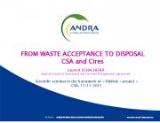 Radioaktiivsete jäätmete lõppladustamiseks konditsioneerimine, suuregabariidiliste jäätmete lõppladustamine