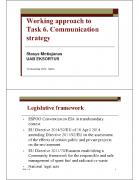 Tegevus 6: Kommunikatsioonistrateegia