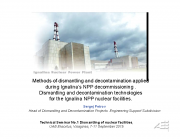 Ignalina tuumajaama dekomisjoneerimise tehnikad