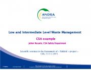 CSA lõppladustuspaik: ohutushinnang ja jäätmepakendite vastavusnäitajad